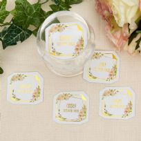 Geo Floral Drink Tokens (25)